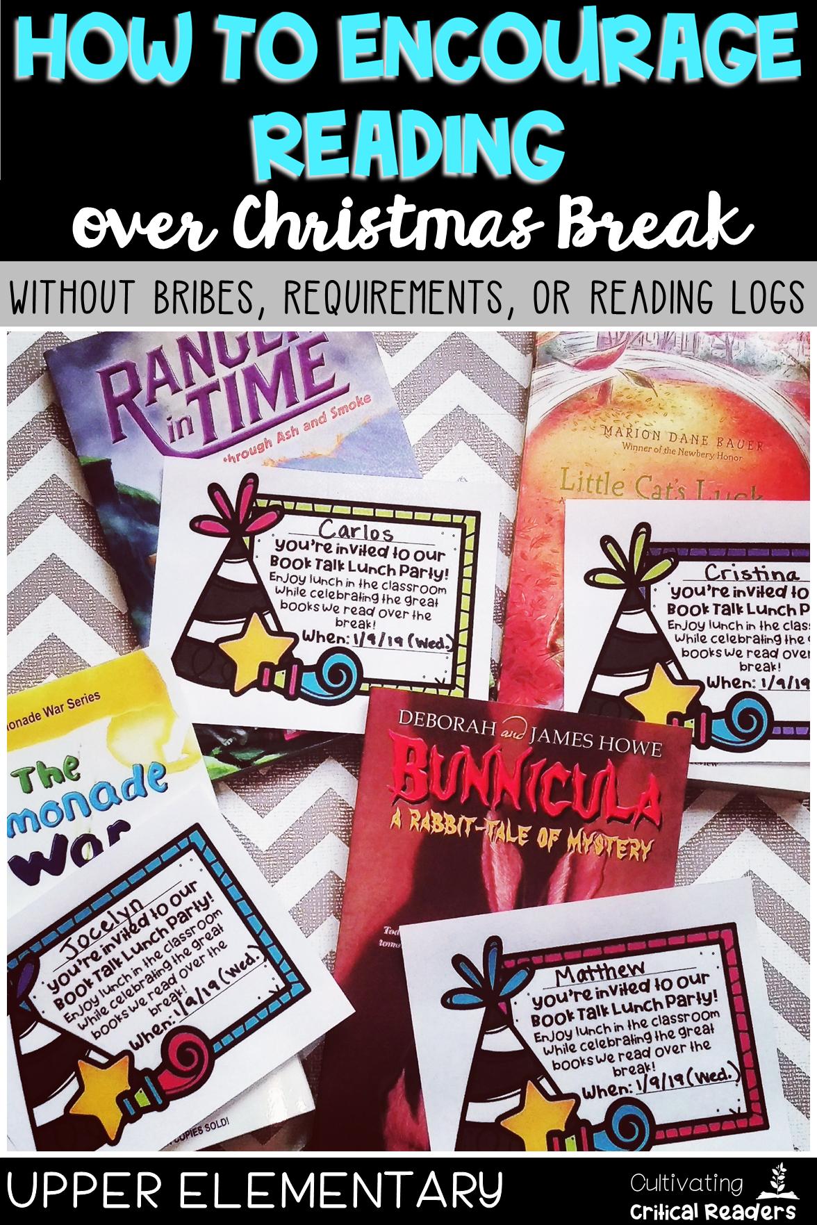 How to Ecourage Reading over Christmas Break