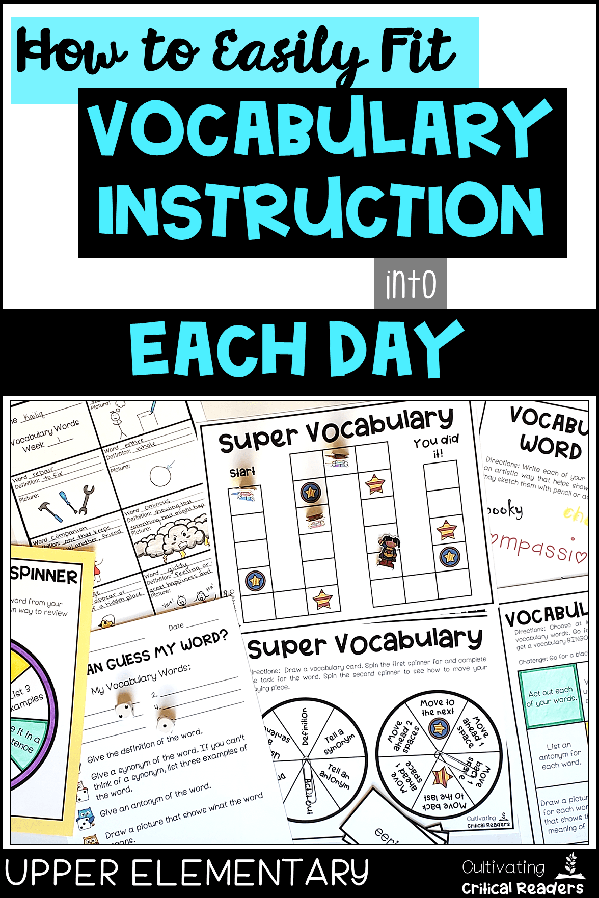 How to Easily Fit Vocabulary Instruction into Each Day