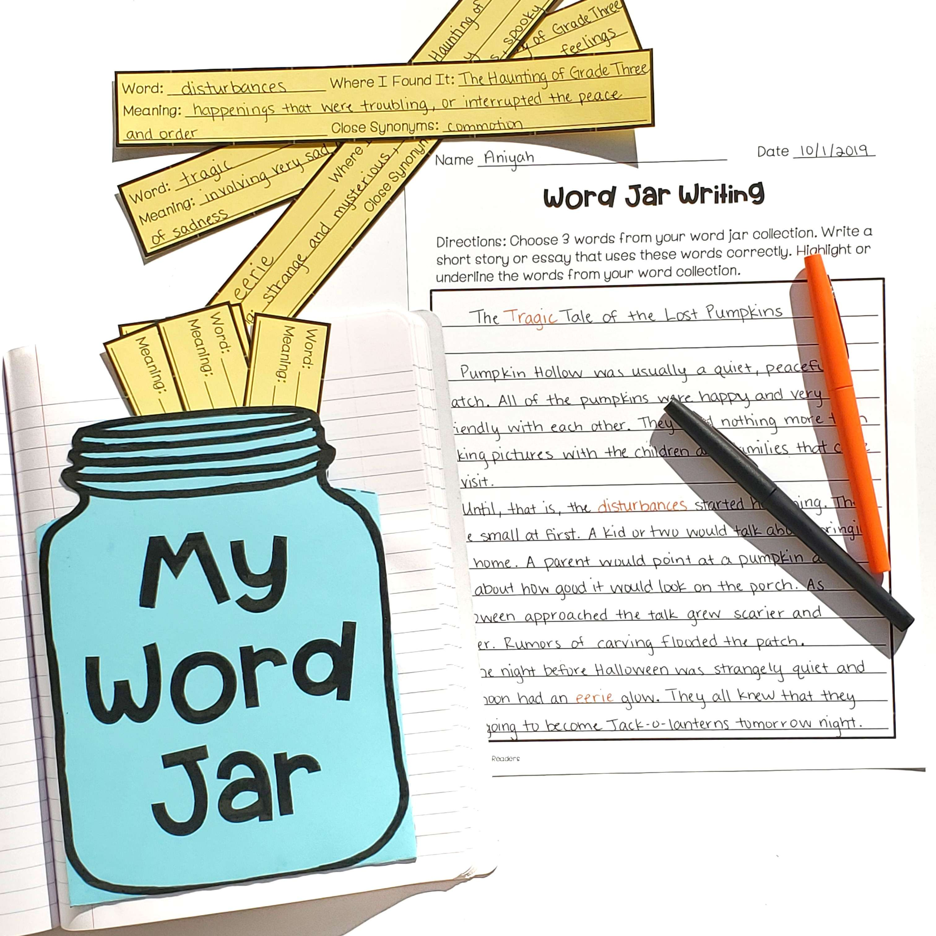 Word Jar for Personal Word Collections